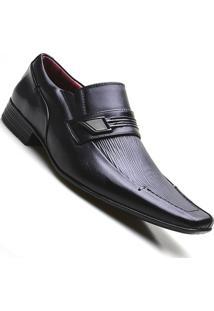 Sapato Social Couro Estampado Pierutti Masculino - Masculino-Preto