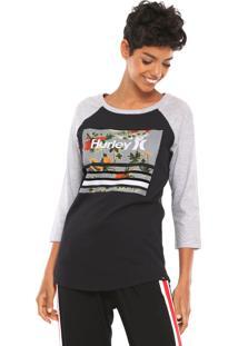 Camiseta Hurley Bordeline Preta