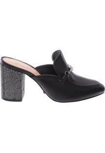 Mocassim Mule Glam Heel Black | Schutz