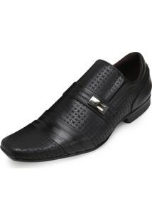 Sapato Focal Flex Couro Ff18-1519 Preto