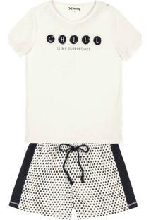 Pijama Em Tecido De Algodão Com Shorts Diferenciado