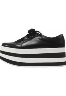 Tênis Damannu Shoes Flatform Missy - Feminino-Preto