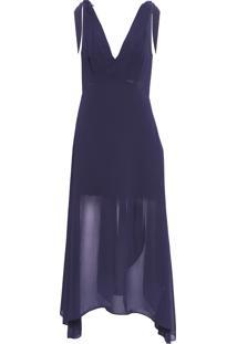 Vestido Longo Top - Azul