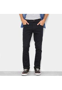 Calça Sarja Slim Biotipo Lavagem Escura Cintura Média Masculina - Masculino