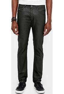 Calça Skinny Zune Color Resinada Masculina - Masculino