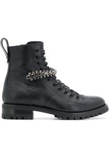 Jimmy Choo Ankle Boot De Couro 'Cruz' - Preto