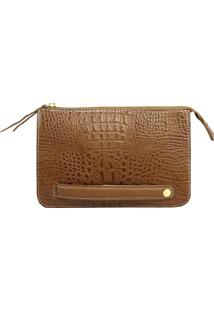 Clutch Sn Couros Firenze Caramelo