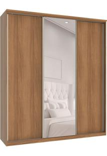 Guarda-Roupa Casal Com Espelho Premium Max 3 Pt 6 Gv Noce