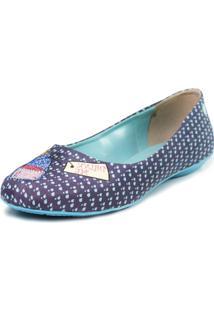 Sapatilha Shoes Inbox Bico Redondo Cupcakes Shoes Feminino - Feminino-Azul