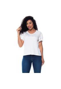 T-Shirt Daniela Cristina Gola V 09 602Dc10363 Branco