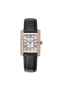 Relógio Feminino Wwoor 8806 - Preto E Dourado