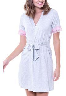 Robe Feminino Curto Podiun 227042 Mescla-Branco
