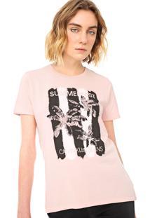Blusa Calvin Klein Jeans Summerfest Rosa