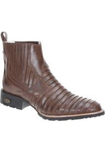 Bota Couro Country Via Boots Masculina - Masculino-Café
