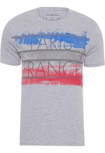 Camiseta Masculina Ckj Mc Estampa Países - Cinza
