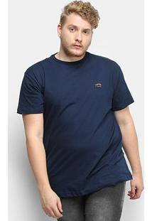 Camiseta Fatal Fashion Basic Plus Size Masculina - Masculino-Azul