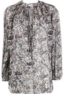 Isabel Marant Étoile Paisley Print Oversized Blouse - Neutro