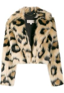 Michael Michael Kors Jaqueta Com Animal Print - Marrom