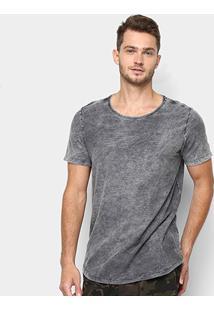 Camiseta Kohmar Flamê Lavada Alongada Masculina - Masculino