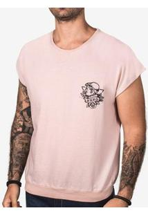 Camiseta Hermoso Compadre Oversized Sleeveless Masculina - Masculino-Rosa