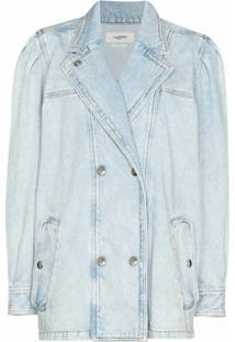 Isabel Marant Étoile Jaqueta Jeans Lucinda Com Abotoamento Duplo - Azul