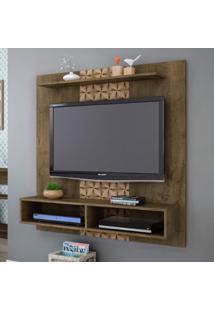 Painel Para Tv Até 43 Polegadas Gama Móveis Bechara Madeira Rústica/Madeira 3D
