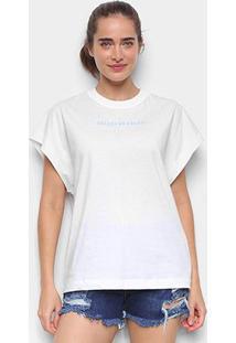 Camiseta Colcci Estampada Feminina - Feminino-Marrom