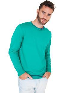 Blusa G'Dom Verde Com Cotoveleiras E Botões