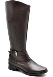 Bota Top Franca Shoes Country Feminino. - Feminino-Café