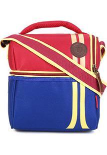 Bolsa Térmica Wilson Lancheira Double - Unissex-Azul+Vermelho