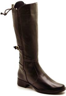 Bota Top Franca Shoes Casual - Feminino-Café