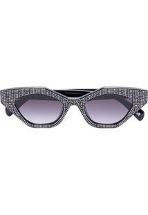 Chimi Óculos De Sol Com Aplicação Space Star - Preto
