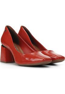 Scarpin Dakota Bico Quadrado - Feminino-Vermelho