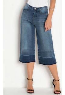 Calça Jeans Pantacourt Azul