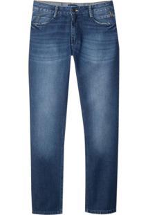 Calça Dudalina Jeans Dark Blue Reservas Masculina (Jeans Escuro, 40)