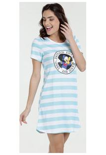 Camisola Feminina Estampa Pato Donald Manga Curta Disney