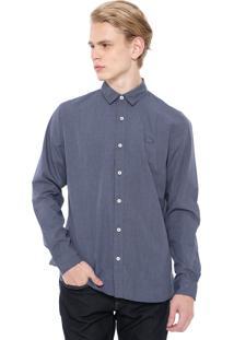 Camisa Lacoste Reta Poás Azul