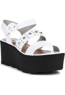 2cc37b9ec Sandália Branca Spikes feminina | Gostei e agora?