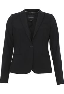 Blazer Lã Banana Republic Washable Italian Preto