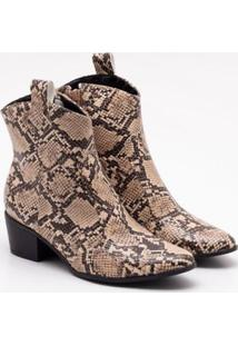 Ankle Boot Firezzi Snake Light Tan 35