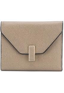 Valextra Porta-Moedas Envelope - Cinza