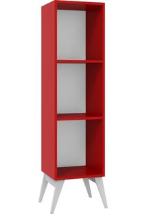 Estante Para Livros Tutti Colors 3016 Vermelho - Madesa