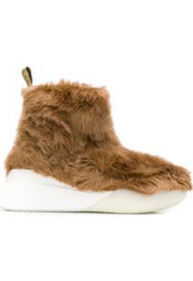 Stella Mccartney Ankle Faux-Fur Boots - Marrom