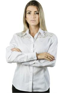 Camisa Pimenta Rosada Angel - Feminino-Branco