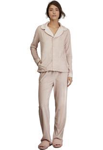 Pijama Aberto Lua Luá Soft Log - Rosa