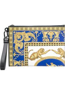 Versace Bolsa Clutch Com Estampa Signature Pillow Talk - Amarelo