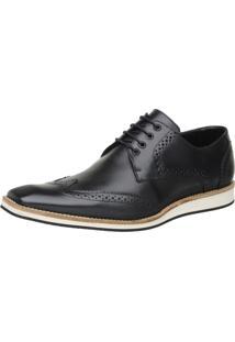 Sapato Malbork Oxford Masculino Preto