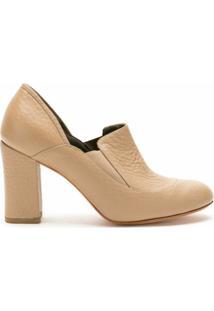 Sarah Chofakian Ankle Boot Egito De Couro - Neutro