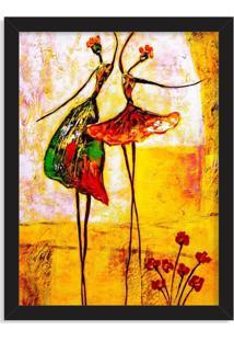 Quadro Decorativo Ballet Preto - Médio