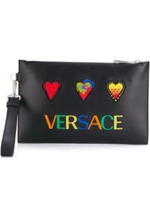 Versace Porta-Moedas Love Versace - Preto